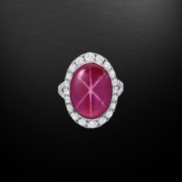 Natural Unheated Star Ruby Diamond Platinum Ring 9.91 Carat