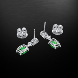Tsavorite Diamond Earrings